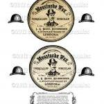 Victorian Moustache Wax Tin Label D..