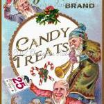 Christmas Vintage Label Tag Candy D..