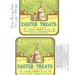 Easter Candy Treats Bunny Label Dig..